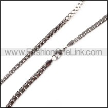 Succinct Silver Small Necklace    n000112