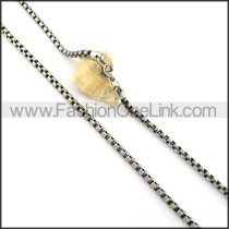 Delicate Staming Necklace n000347