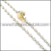 Delicate Stainless Steel Fashion Necklace n000529