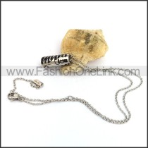 Silver Hollow Cyinder Fashion Necklace n001083