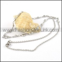 Silver Heart Plated Necklace   n000070