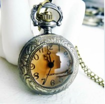 Vintage Tawny Face Pocket Watch Chain PW000020