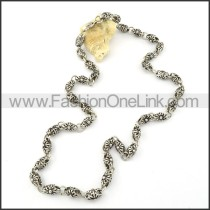 Silver Exquisite Casting Necklace    n000311