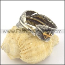 Vintage Casting Feather  Ring r001383