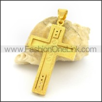 Delicate Stainless Steel Cross Pendant   p002427