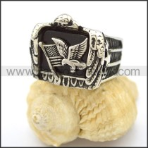 Delicate Stainless Steel Biker Ring  r002557