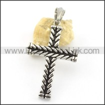 Delicate Stainless Steel Cross Pendant   p001663