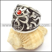 Stainless Steel Skull Ring r000477