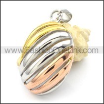 Beautiful Ring Stack Design Stainless Steel Pendant  p000295