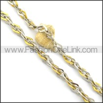 Two Tone Plated Necklace n000730