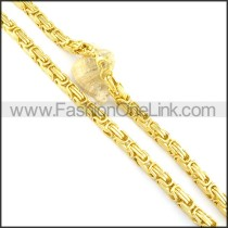 High Quality Golden Plated Necklace n000567