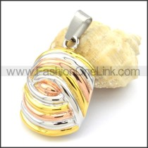 Beautiful Ring Stack Design Stainless Steel Pendant  p000301