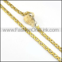 Succinct Golden  Plated Necklace      n000167