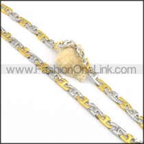 Exquisite Two Tone Plating Necklace  n000072