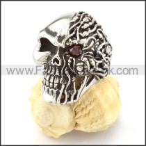 Stainless Steel Punk Style Biker Skull Ring r000515