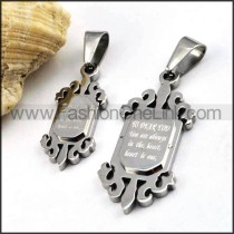 Exquisite Stainless Steel Couple Pendants p000054
