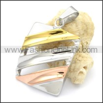 Beautiful Ring Stack Design Stainless Steel Pendant  p000298