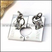 Exquisite Stainless Steel Couple Pendants p000058