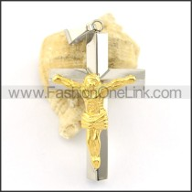 Delicate Stainless Steel Cross Pendant     p001625
