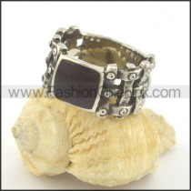 Vintage Black Zircon Ring r001385