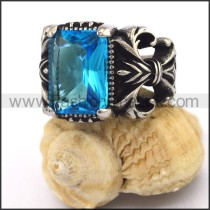 Exquisite Vintage Staninless Steel Stone Ring  r003452