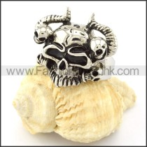 Stainless Steel Punk Style Ring r000662