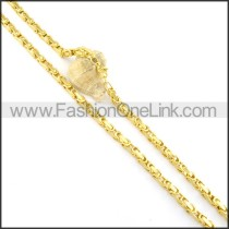 Delicate Golden Plated Necklace n000569