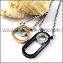 Exquisite Stainless Steel Couple Pendants p000087
