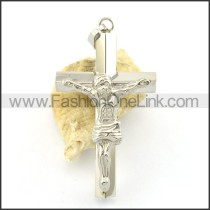 Delicate Stainless Steel Cross Pendant     p001626
