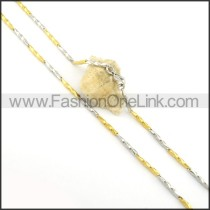 Elegant Stainless Steel Plated Necklace n000560