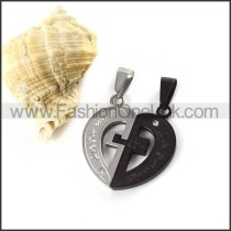 Delicate Stainless Steel Couple Pendants p000031