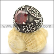 Vintage Stone Stainless Steel Ring r002600