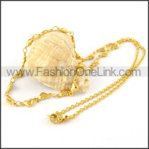 Golden Heart Plated Necklace    n000071