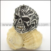 Exquisite Stainless Steel Skull Ring  r001743