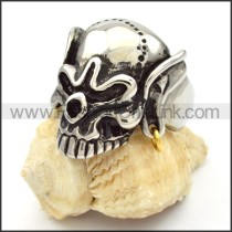 Stainless Steel Skull Ring r000478