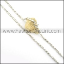 Unique Stainless Steel Plated Necklace n000561