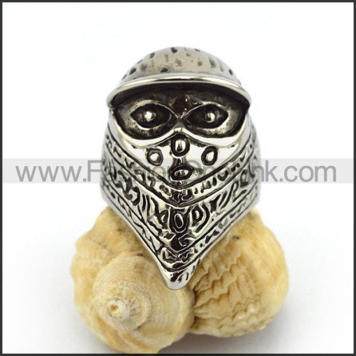 Stainless Steel Biker Ring  r003515