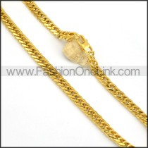 Succinct Golden Plated Necklace    n000135