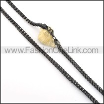 Graceful Black Plated Necklace  n000507