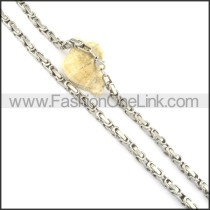 Delicate Silver Fashion Necklace n000568