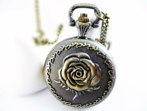 Vintage Rose Pocket Watch Chain PW000021