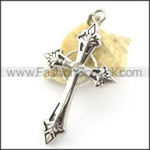 Delicate Stainless Steel Cross Pendant   p001660