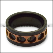 black plating roman numerals spinner ring r005182