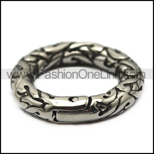 20.5mm big textured donut clasp for necklaces or bracelets a000616