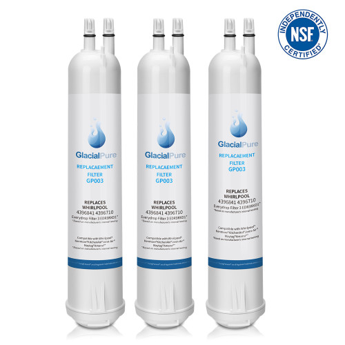 Whirlpool Refrigerator Water Filter 3 EDR3RXD1 4396710 4396841, Pur Filter 3, Kenmore 9030, 9083 (3-Pack)