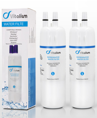 Refrigerator Water Filter W10295370A,EDR1RXD1,Replacement for Kenmore,46-9081,46-9930,Pur Water Filter W10295370A,P4RFWB,by Vitaliums(2-PACKS)