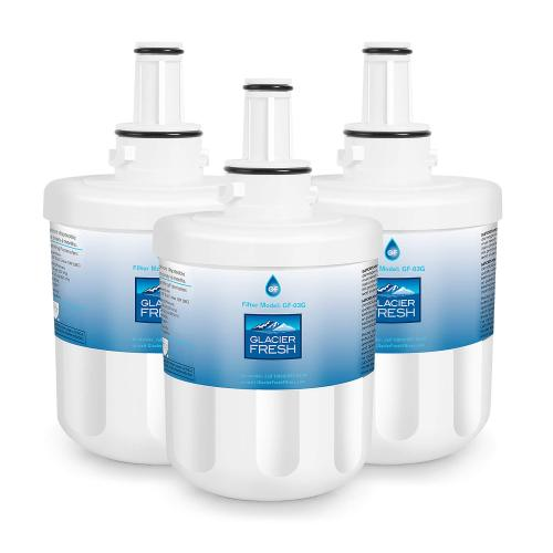 DA29-00003G Refrigerator Water Filter Replacement for Samsung DA29-00003G, Aqua-Pure Plus DA29-00003B, HAFCU1, DA29-00003A by Glacier Fresh - 3 Packs