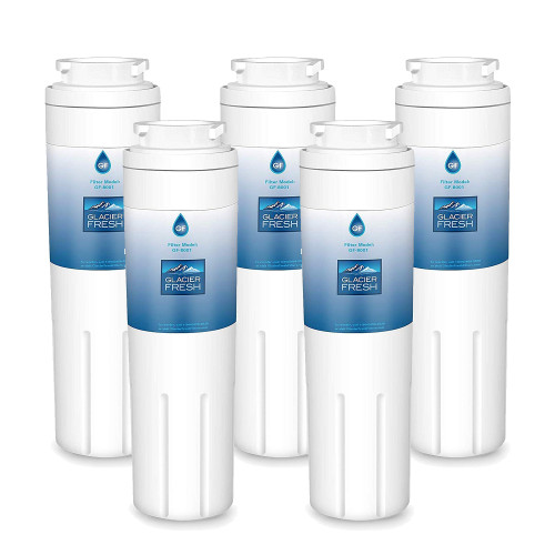 UKF8001 Refrigerator Water Filter, Replacement for Maytag UKF8001, UKF8001AXX, UKF8001P, 4396395, 469006, EDR4RXD1, Filter 4, Puriclean II by Glacier Fresh, Pack of 5