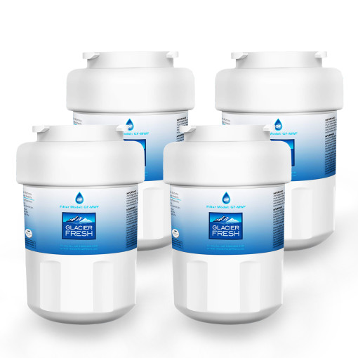 GE MWF Water Filter Cartridges NSF 42 Certified, Compatible with GE MWF SmartWater, MWFA, MWFP, GWF, GWFA, Kenmore 9991, 46-9991, HDX FMG-1, WFC1201 etc. (4 Packs)