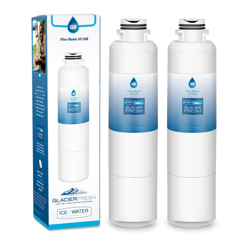 DA29-00020B Refrigerator Water Filter Replacement for Samsung DA29-00020B, DA29-00020A, HAF-CIN/EXP, 46-9101, DA97-08006A, by Glacier Fresh, 2 Packs